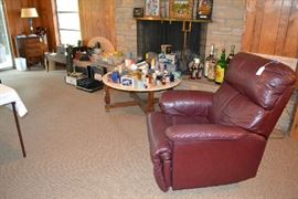 NICE RECLINER, SEWING CABINET,PERFUMA ITEMS, CAMERAS AND MORE