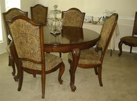 Dining table with six (6) chairs