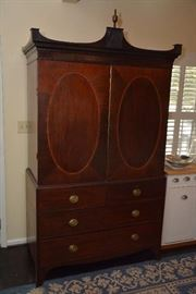 antique English armoire