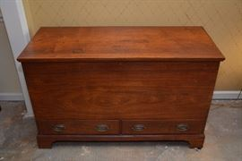 Southern Virginia 1840's walnut blanket chest