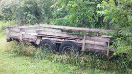 14 ft heavy duty trailer....Needs work but nice price