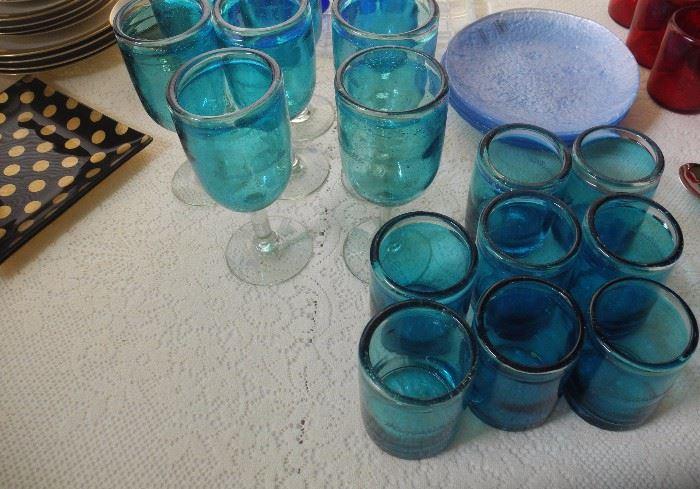 Teal Margaritaville glassware
