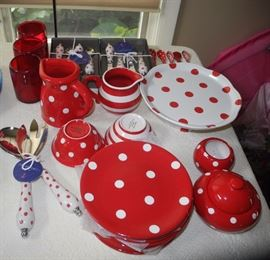 Red and white - also can mix and match with the black Pfaltzgraff