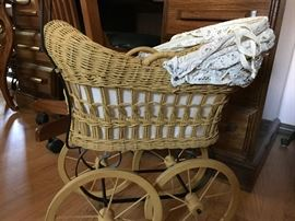 1800s antique doll buggy