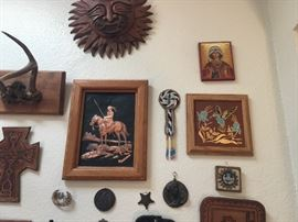 Various authentic Native American art