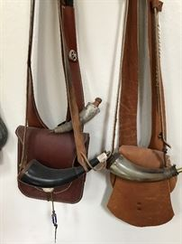 Leather bags and genuine horns