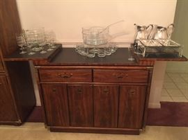 Drexel Heritage Accolade campaign style buffet with brass fittings - Mid Century Modern