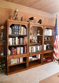 "BUY IT NOW!  Lots #301, 302, & 303, Beautiful Wood Bookshelves (3 total), $350 Each (Each is approx. 32"" L x 17"" Deep x 76"" H)"