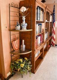BUY IT NOW!  Lot #304, Iron & Brass Corner Shelf, $225