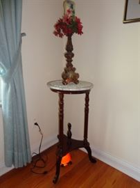 Marble table & candle holder