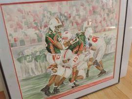ORIGINAL Watercolor ... winning game day !