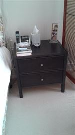 One of a pair of side tables