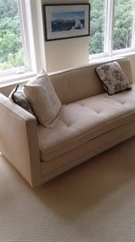 One of several pristine sofas