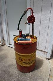 Schaeffer's Oil Drum Barrel with Pump