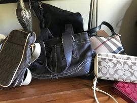 Designer handbags, Burberry, Coach and more