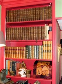 Antique Book Volumes, also many reference books, antiques, silver, china