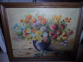 Original Hugo Kalinowski Floral series oils