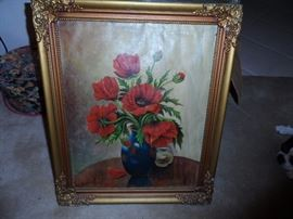 Original Hugo Kalinowski Florals series oil
