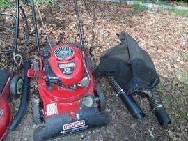 Craftsman 6.75 HP self propelled grounds vacuum and leaf blower with collection bag and suction wand