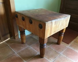Large Antique butcher block
