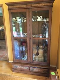 Antique Walnut cupboard or china cabinet