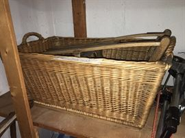 Vintage German potato basket