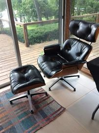Charles Eames for Herman Miller Walnut Chair & Ottoman, added for Sunday Sale!