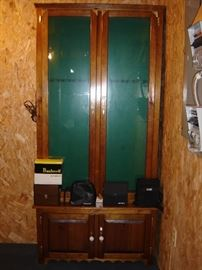 Gun cabinet, binoculars
