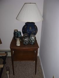 table, lamp and button collection