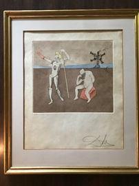Salvador Dali signed print