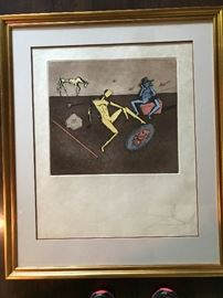 The Mirror of Chivalry by Salvador Dali signed