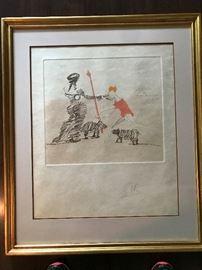 Pastorale by Salvador Dali Signed