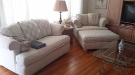 Sofa, love seat, and over sized chair