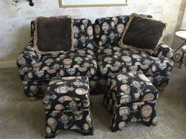 Love seat with ottomans
