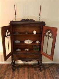 Circa 1920 Curio cabinet, revival style