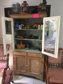 Old Farm house Hutch cabinet