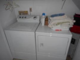 One set Maytag washer & dryer; one set GE washer & dryer; all electric.