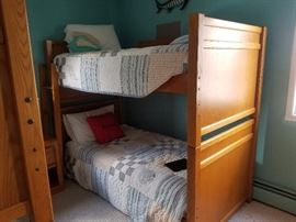 We've got bunk beds - three sets! Also have matching dresser and nightstand