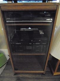 wood stereo component rack