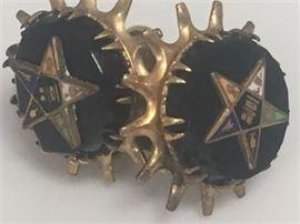 Vintage Order of of the Eastern Star Masonic Earrings Pair