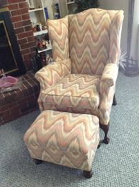Wingback Chair / Ottoman $ 70.00