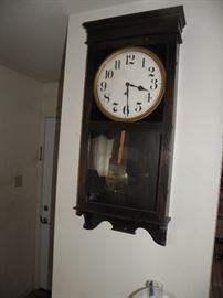 Early 1900s wall clock.  Works