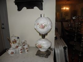 German chocolate set and gone with the wind lamp