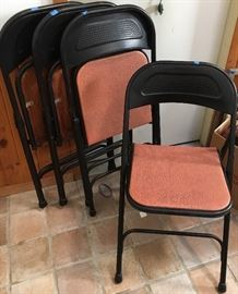 4 Samsonite padded folding chairs