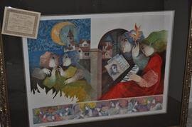 """Alvar Suñol Munoz-Ramos """"Concierto de Noche"""" 34/250 lithograph"""
