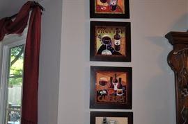 Small framed tiled prints  (SOME SOLD)
