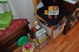 Just some of the cat supplies available, rolls of packing tape (SOME SOLD)