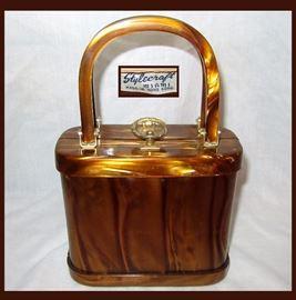 Fabulous Vintage Lucite Handbag Stylecraft Miami Made in Hong Kong