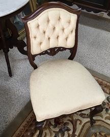 Find antique inlay wood chair