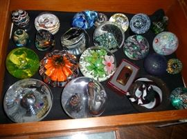 some paperweights